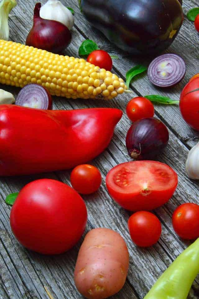 les légumes dans le régime végétarien