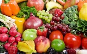 beaucoup de fruits et légumes