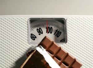 poids, chocolat