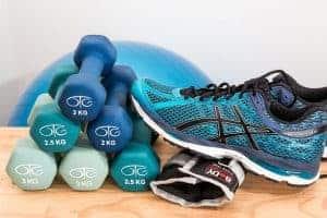chaussures de sport, poids