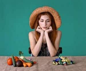 le choix entre les aliments sains et les sucreries