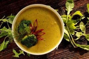 soupe à la crème de brocoli