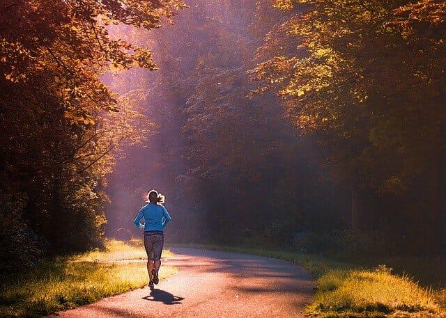 courir, courir dans le parc