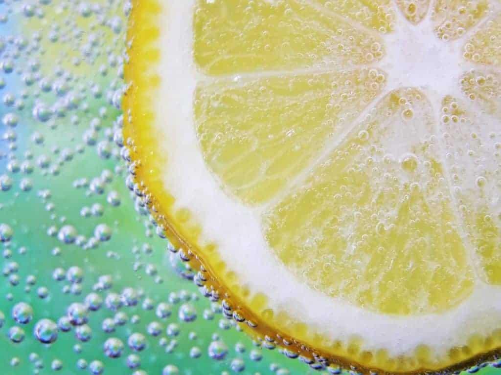 une tranche de citron